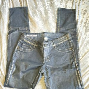 Decree metallic skinny jeans